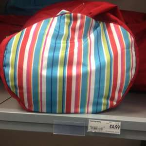 Homebase. Bean bag. Was £14.99 now £4.99. Perfect for kids