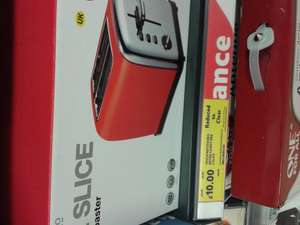 Tesco 2 slice candy red retro toaster was £45 now reduced £10 Tesco, Bidston,