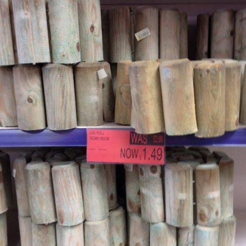 Log Rolls for garden £1.49 @ B&M
