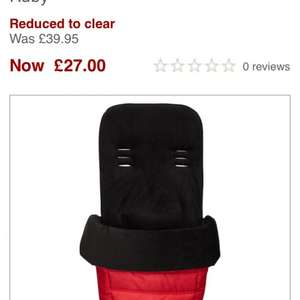Baby jogger city select footmuff £27.00 @ John Lewis