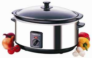 Morphy Richards 48715 Oval Slow Cooker 6.5 Litres - Stainless Steel £20 @ Amazon + Prime