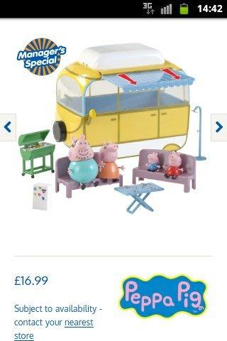 Peppa pig campervan set only £16.99 @ B&M