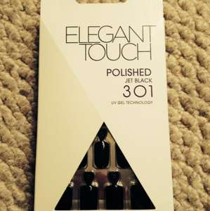 Elegant Touch her black false nails £1.99 at Savers