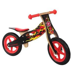 "12"" Flames Woden Balance Bike was £49.99 now £24.96 @ toys R us"