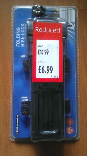 Bikemate Folding Bike Lock reduced to £6.99 in Aldi