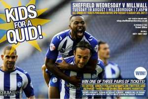 Kids for a Quid. Sheff Wed v Millwall