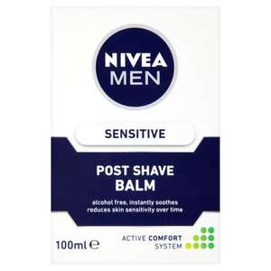 Nivea Men Sensitive Post Shave Balm, 100ml £2.50 at Amazon (Add on Item)