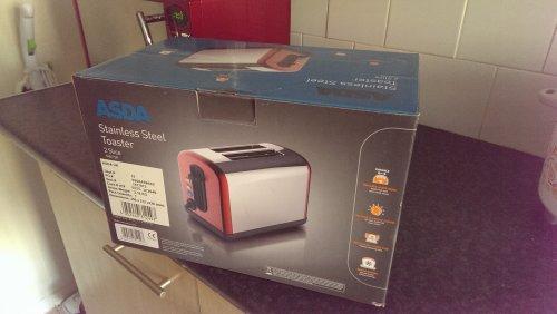 ASDA Stainless steel toaster £10.00 instore