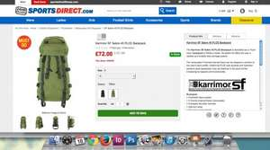 Karrimor SF Sabre 45 PLCE Backpack Was £122 now  £76 delivered Sportsdirect