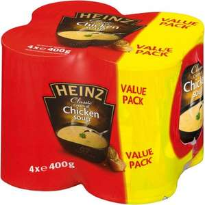 Heinz Classic Cream of Chicken or Vegetable Soup (4 x 400g) ONLY £2.00 @ Asda (Available in all stores)