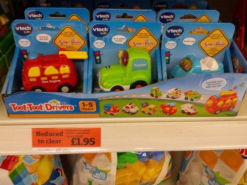 v-Tech toot toot cars. Sainsburys instore £1.95