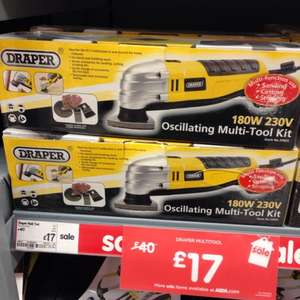 Draper Oscillating Multi Tool Kit ASDA £17