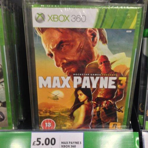 Max Payne 3 Xbox 360 £5 @ Tesco