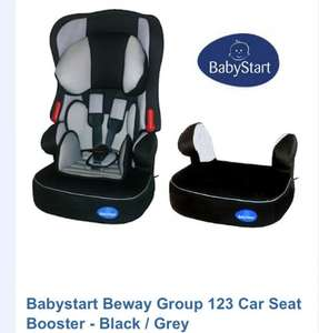 Babystart Beway Group 123 Car Seat Booster – Black / Grey £32.95 @ Bounty parenting club