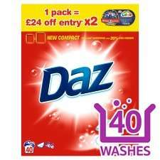 Daz Washing Powder  2.6Kg 40 Washes £4 @ Tesco