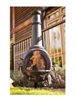 Large La Hacienda cast iron chiminea chiminea £15 c&c Tesco was £60