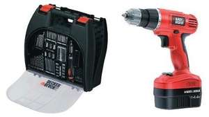 Black & Decker 14.4 Drill and 100 accessories £40 @ Asda
