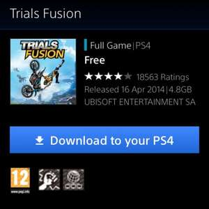 Trials Fusion Full Game PS4