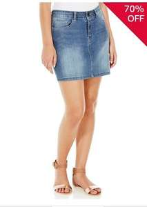 Denim skirt (6-18 sizes) for £3 @ tesco clothing