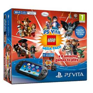 PS Vita Slim with Lego Mega Pack Bundle and 8GB Memory Card £130 delivered with code @ Asda Direct