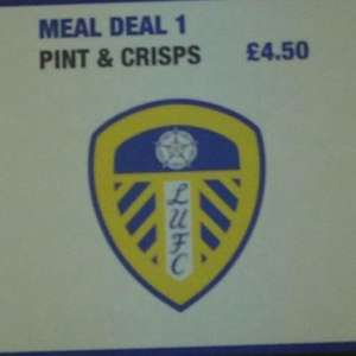 "Leeds United ""Meal"" Deal - £4.50"