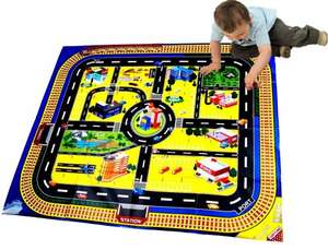 Kids Giant City Playmat Floor Play Mat for Toy Cars Road Railway Train Track £2.35 + FREE delivery @ Amazon/The Magic Toy Shop