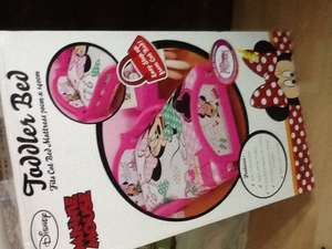 Minnie Mouse toddler bed reduced from £59.99 to 39.99 @ B&M