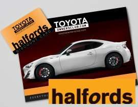 15% discount at Halfords every time you visit for a year via Toyota Owners Club