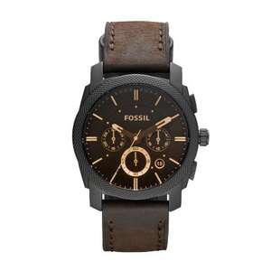 Fossil Men's Utility Chronograph Watch FS4656 With Black Dial And Brown Leather Strap - £57.20 @ Amazon