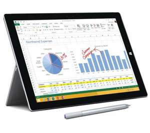 Surface Pro 3 at Currys/PC World (i3, 64GB) £639 (£100 cashback making it £539) £25 off o2 priority moments making it £514