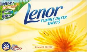 Lenor Tumble Dryer Sheets (34 per pack) was £3.99 now 2 for £4.00 @ Ocado