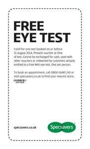 Free Eye Test At Specsavers