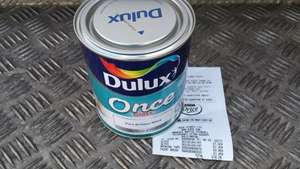 Dulux Once / Non Drip / Quick dry (gloss or satinwood) brilliant white 750ml £7 @ Asda