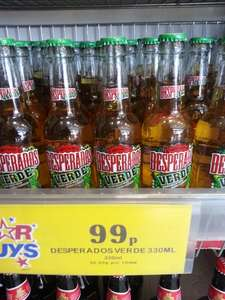 Desperados Verde (Lime, mint, tequila flavoured lager) 330ml Bottle 4.7% HOME BARGAINS for 99p