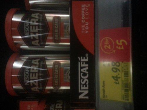 Nescafe Azera 2 for £5 Asda