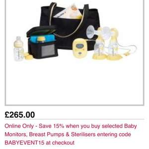 Medela freestyle electric breast pump - £225.25 @ Boots