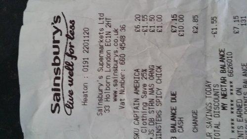 Captain America fancy dress £4.20 instore at Sainsburys