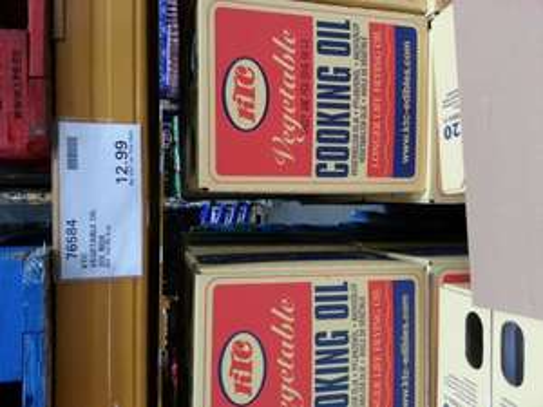 20 Litre carton of Ktc vegetable £12.99 at Costco .