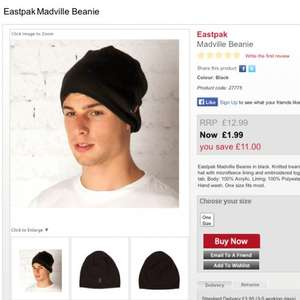 Eastpak madville beanie wooly hat £2.99 delivered at gtl (get the label / part of Jd sports) + quidco