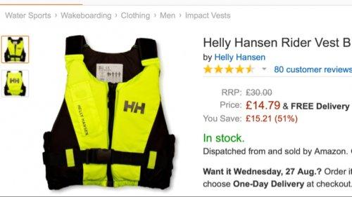 Helly Hansen Buoyancy Aid from £14.79 @ Amazon