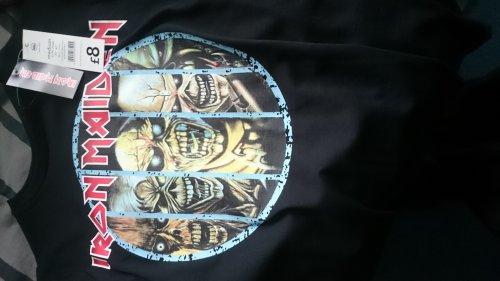Iron Maiden tshirt bargain £8.00 @  Asda