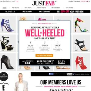 50% off your first pair @ Just Fab Shoes