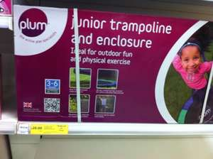 Junior trampoline and enclosure (instore reduced to clear) - £20 instore @ Tesco