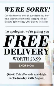 Free Standard Delivery On all orders until Midnight 27th August @ Kaleidoscope
