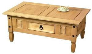 (24ace) Solid Pine Coffee Table £154.99 reduced to £79.99 AND only £40.99 with code includes Free Delivery