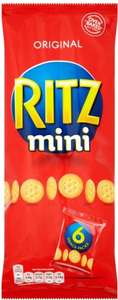 Ritz Mini Crackers (6 x 25g) was £1.69 now 84p @ Tesco