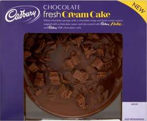 Cadbury Chocolate Fresh Cream Cake 430G Half price £1.75 @ Tesco