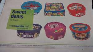 Any 2 x tubs of Celebrations / Roses / Heros / Quality street / Haribo / Sweet shop £9 @ Co-op