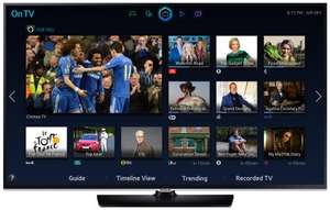 "Samsung UE32H5500 32"" 1080p Full HD Smart LED TV with WiFi / Freeview HD + 2 FREE HDMI 1.4 Cables - £249.99 Delivered @ Amazon.co.uk"