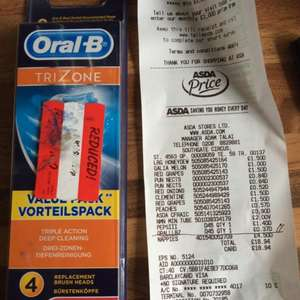 Oral B Trizone 4 Replacement Brush heads @ Asda